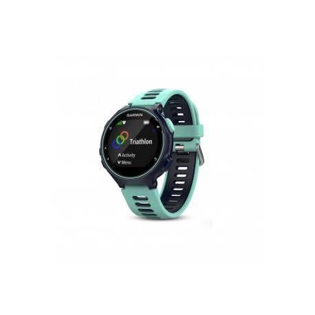 Montre GPS Garmin Forerunner 735 XT - Bleue et vert