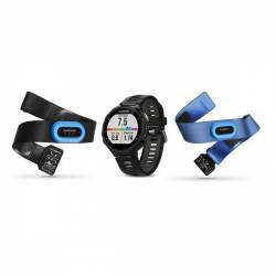 GPS watch Garmin Forerunner 735 XT complete Pack - Black and grey