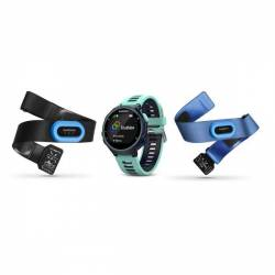 GPS watch Forerunner 735 XT Complete Pack - Blue and green
