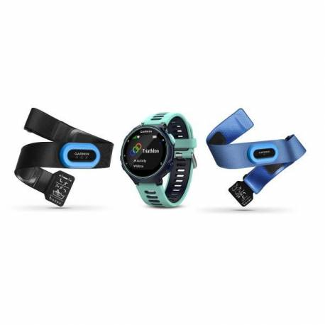 Montre GPS Forerunner 735 XT Pack Complet - Bleue et vert