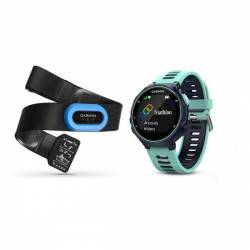 GPS watch Garmin Forerunner 735 XT with HRM - Blue and green