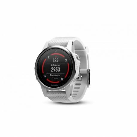 Montre GPS Garmin Fenix 5S - bracelet blanc Carrara