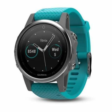 GPS watch Garmin Fenix 5S - turquoise bracelet