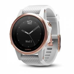 GPS watch Garmin Fenix 5S Rose-Gold - bracelet-white Carrara
