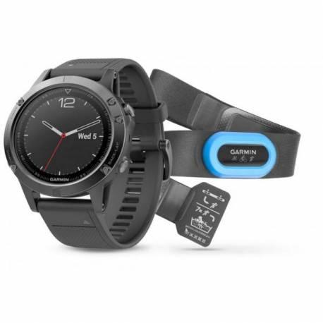 Montre GPS Garmin Fenix 5 avec HRM- Noir Saphire