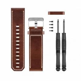 Bracelet pour Montre GPS Garmin Fenix 3 - Cuir Marron