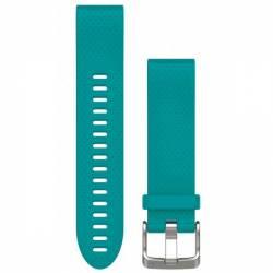 Bracelet Silicone QuickFit pour Montre Garmin Fenix 5S - Turquoise