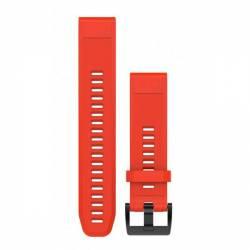 Bracelet Silicone QuickFit pour Montre Garmin Fenix 5S - Rouge (22mm)
