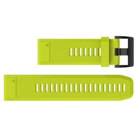 Bracelet Silicone QuickFit pour Montre Garmin Fenix 5X - Jaune