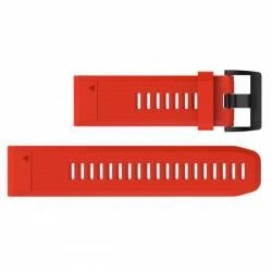 Bracelet Silicone QuickFit pour Montre Garmin Fenix 5X - Rouge
