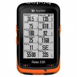 GPS Vélo Bryton Rider 530 T (avec capteur de cadence & cardio)