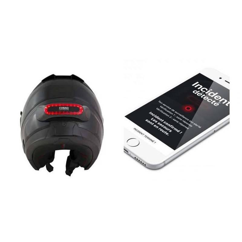 feu de freinage connect pour casque moto. Black Bedroom Furniture Sets. Home Design Ideas