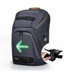 Backpack with LED panel directions